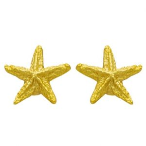 Επίχρυσα σκουλαρίκια αστερίες