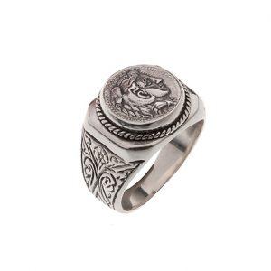 Δαχτυλίδι με Νόμισμα από Ασήμι 925