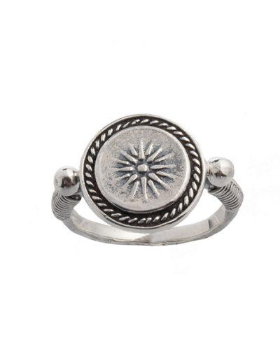Δαχτυλίδι Ήλιος της Βεργίνας από Ασήμι 925