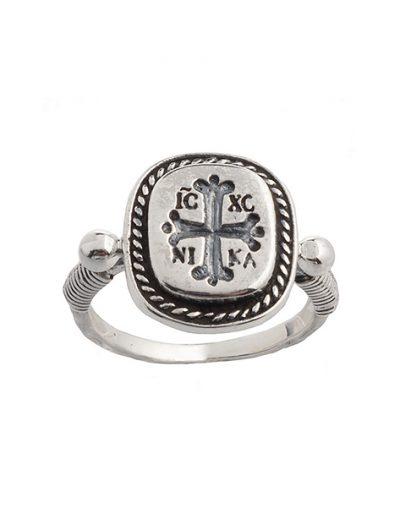 Δαχτυλίδι IC XC NIKA από Ασήμι 925