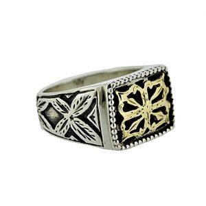 Δαχτυλίδι από Ασήμι 925 και Χρυσό Κ18