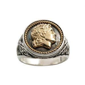 Δαχτυλίδι από Ασήμι 925 με Επίχρυσα μέρη