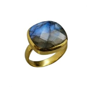 Επίχρυσο δαχτυλίδι με ημιπολύτιμες πέτρες