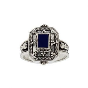 Δαχτυλίδι από Ασήμι 925 με πέτρα Λάπις Λάζουλι
