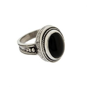 925 Sterling Silver Ring with black Onyx Gemstone