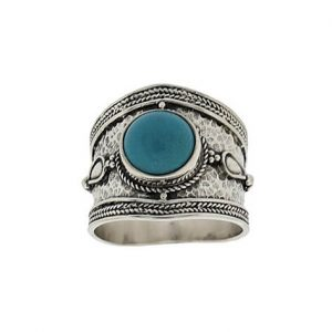 925 Sterling Silver Ring with Turquoise Gemstone