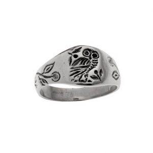 Δαχτυλίδι από Ασήμι 925 Κουκουβάγια