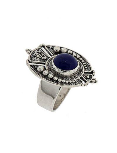 Δαχτυλίδι από Ασήμι 925 με Λάπις Λάζουλι