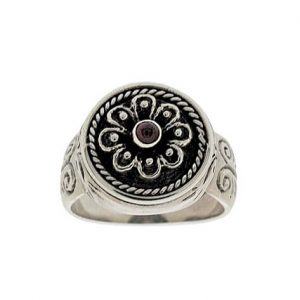 Δαχτυλίδι Ρόδακας από Ασήμι 925 με Πέτρα