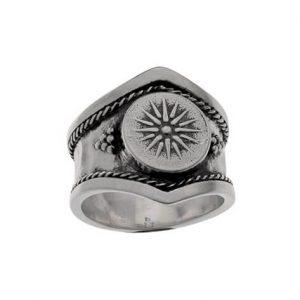 Δαχτυλίδι από Ασήμι 925 Ήλιος της Βεργίνας