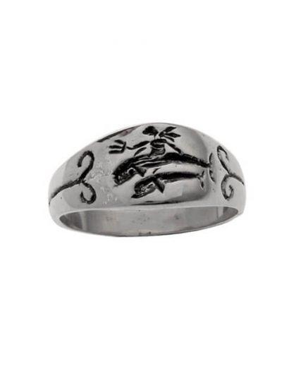 Δαχτυλίδι από Ασήμι 925 Δελφίνια