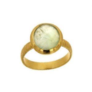 Ασημένιο Δαχτυλίδι με Ημιπολύτιμη Πέτρα Χαλαζία Πρινίτη