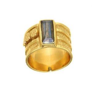 Ασημένιο Δαχτυλίδι με Ημιπολύτιμη Πέτρα Λαμπραντορίτη