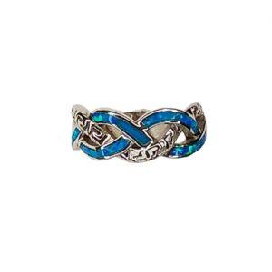 Δαχτυλίδι με μπλε οπάλ