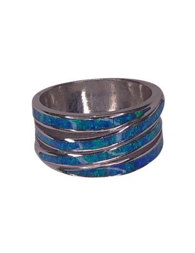 Ασημένιο δαχτυλίδι με Οπάλ