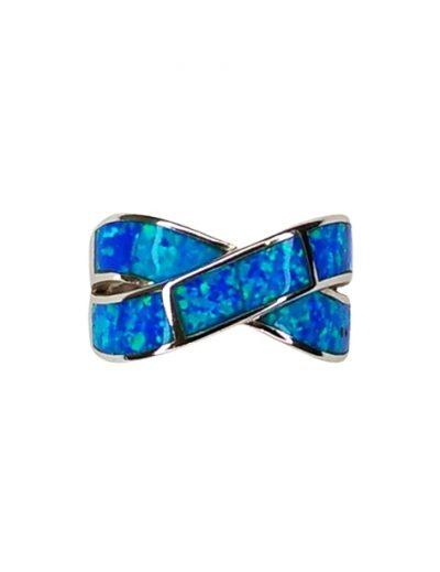 Δαχτυλίδι Ασημένιο με μπλε οπάλ
