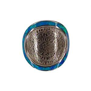 Δαχτυλίδι με δίσκο της Φαιστού και μπλε Οπάλ