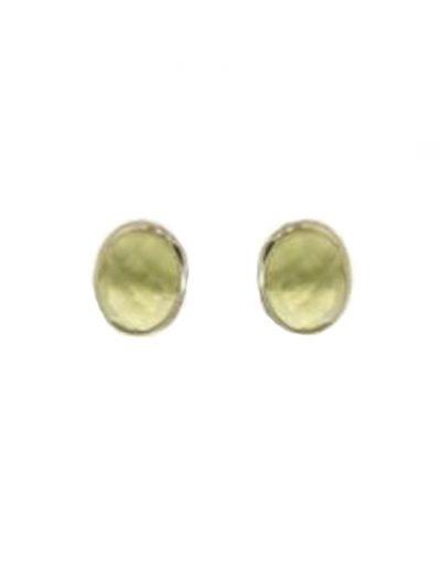 Ασημένια Σκουλαρίκια με Ημιπολύτιμη Πέτρα Πρινίτης