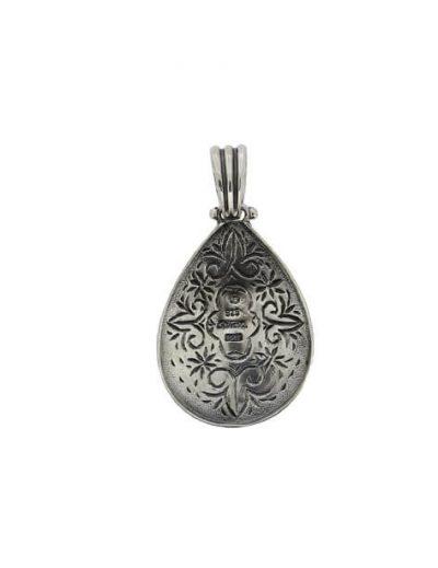 Ασημένιο Μενταγιόν με πέτρα Φίλντισι