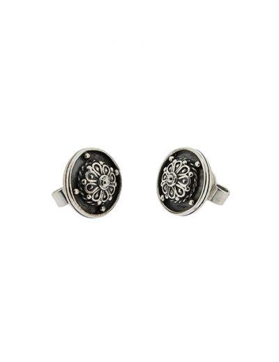 Σκουλαρίκια Ρόδακας από Ασήμι 925