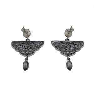 Σκουλαρίκια Ανθέμιο από Ασήμι 925