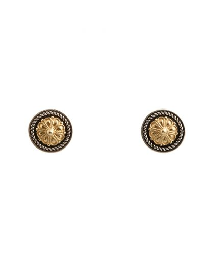 Σκουλαρίκια Ρόδακας από Ασήμι 925 με Επίχρυσα μέρη
