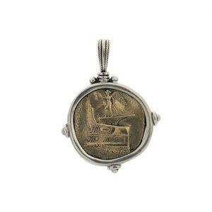 Μενταγιόν από Ασήμι 925 με Μπρούτζινο Νόμισμα