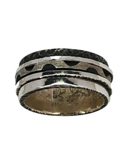 Χειροποίητο Ασημένιο Δαχτυλίδι με Περιστρεφόμενα Μέρη