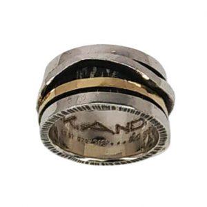 Χειροποίητο Δαχτυλίδι με Περιστρεφόμενο χρυσό Κ18 Μέρος