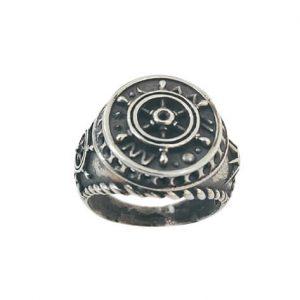 Ασημένιο Ανδρικό Δαχτυλίδι με Ναυτικό Σχέδιο