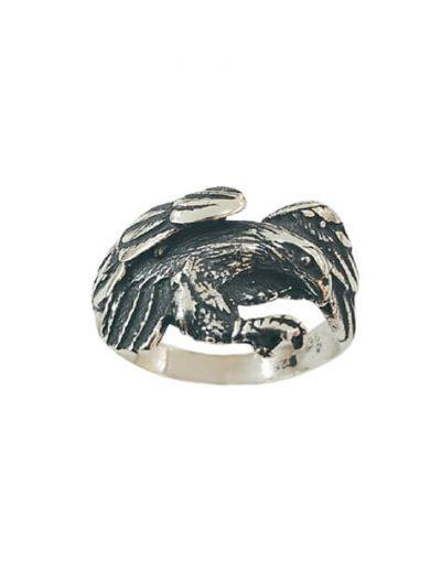 Χειροποίητο Ασημένιο Ανδρικό Δαχτυλίδι Αετός