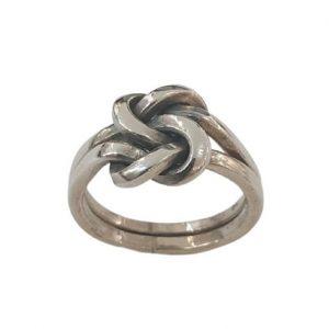 Χειροποίητο Ασημένιο Ανδρικό Δαχτυλίδι Κόμπος