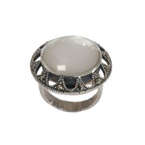 Ασημένιο Δαχτυλίδι με Μαρκασίτες